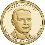 2014 Presidential Dollar Coin Herbert Hoover Proof Obverse