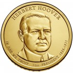 2014 Presidential Dollar Coin Herbert Hoover Uncirculated Obverse