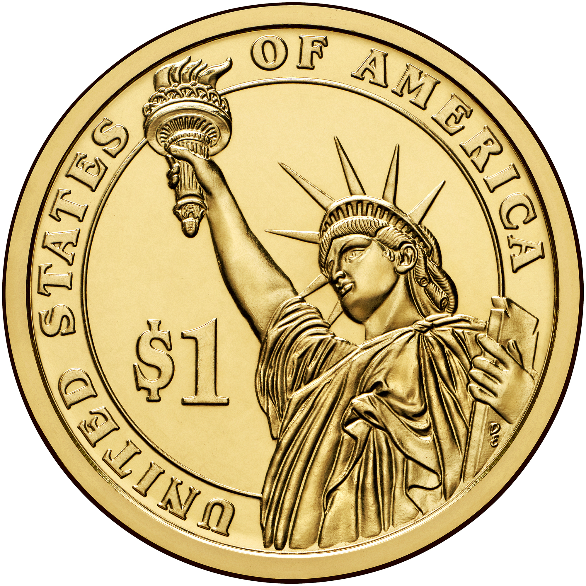 2014 Presidential Dollar Coin Uncirculated Reverse