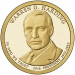 2014 Presidential Dollar Coin Warren G. Harding Proof Obverse