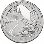 2015 America The Beautiful Quarters Coin Blue Ridge Parkway North Carolina Proof Reverse