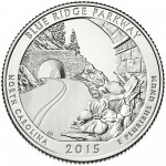 2015 America The Beautiful Quarters Coin Blue Ridge Parkway North Carolina Uncirculated Reverse