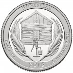 2015 America The Beautiful Quarters Coin Homestead Nebraska Proof Reverse