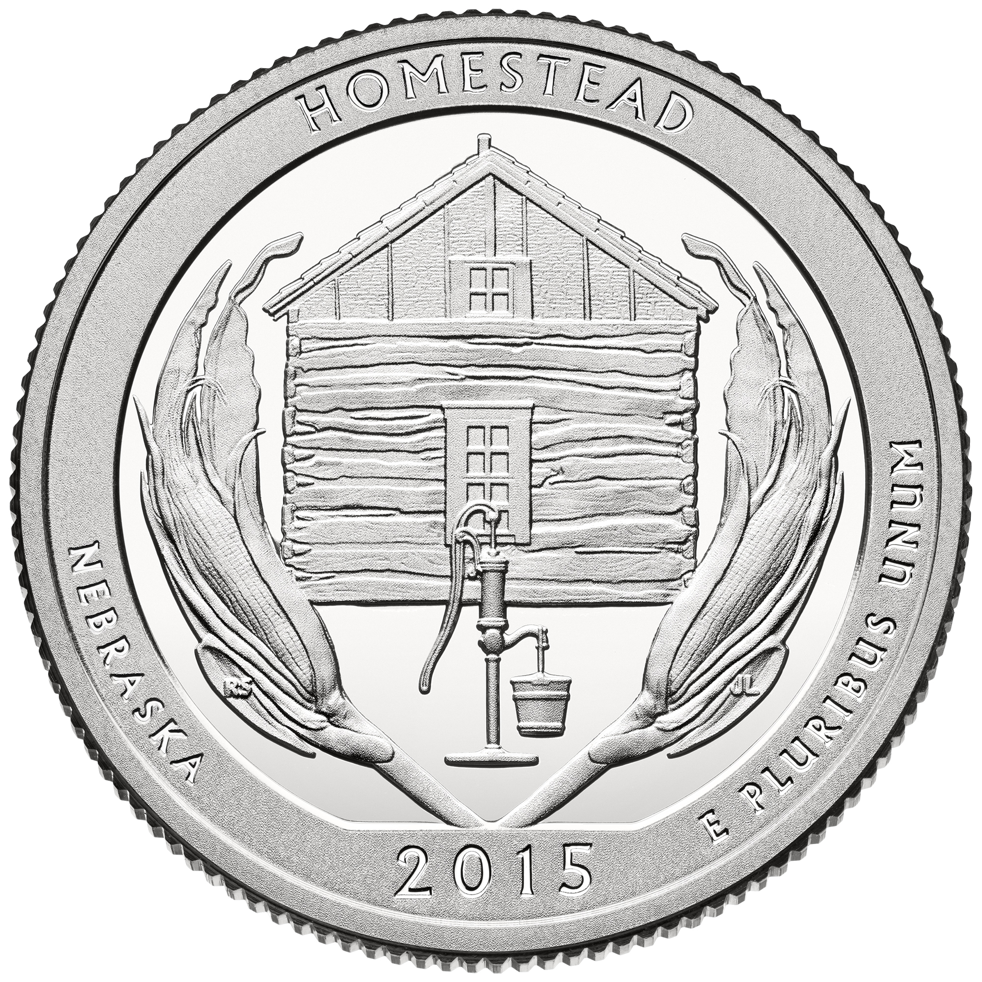 2015 America The Beautiful Quarters Coin Homestead Nebraska Proof Reverse