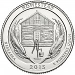 2015 America The Beautiful Quarters Coin Homestead Nebraska Uncirculated Reverse