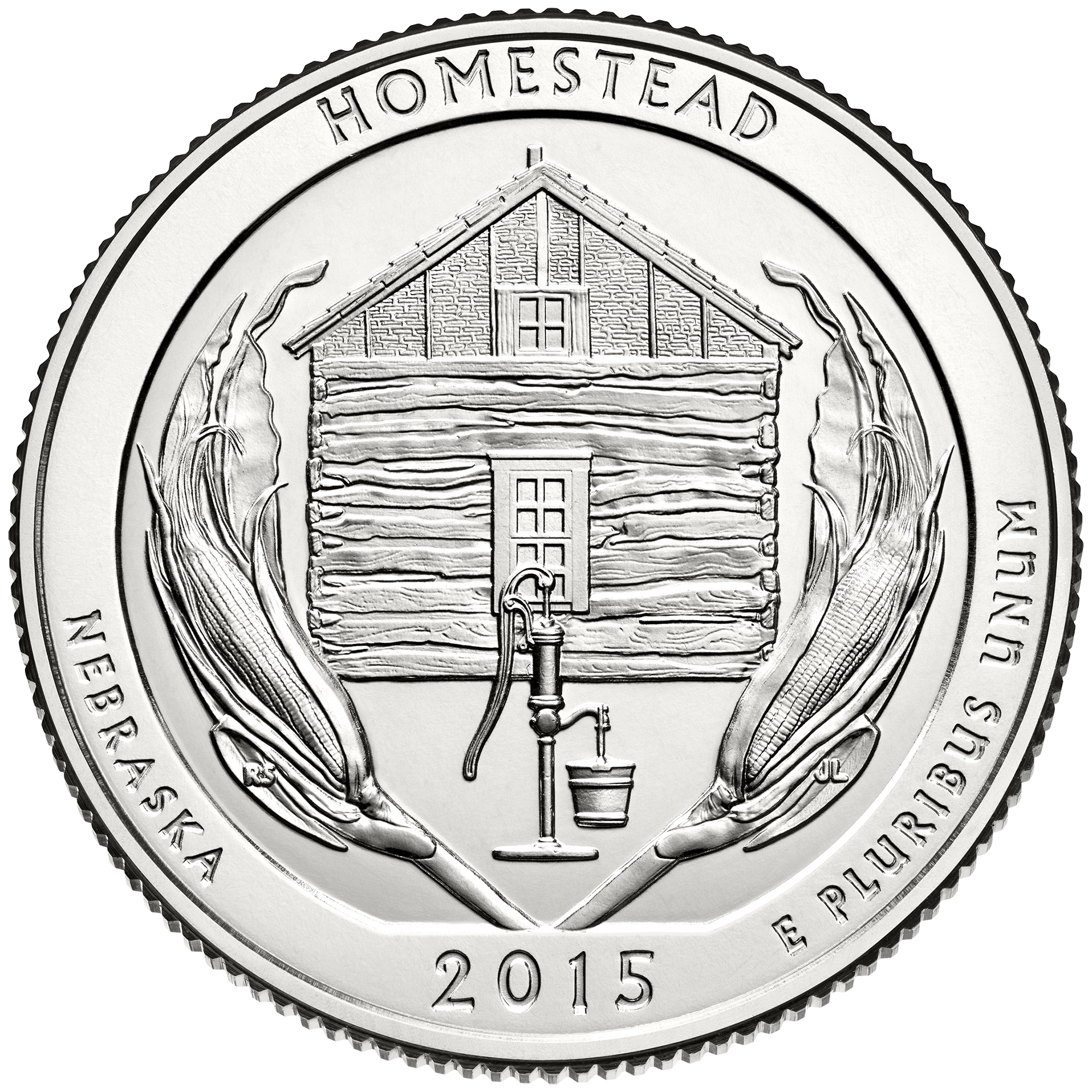2015 America The Beautiful Quarters Coin Homestead Nebraska Uncirculated Reverse