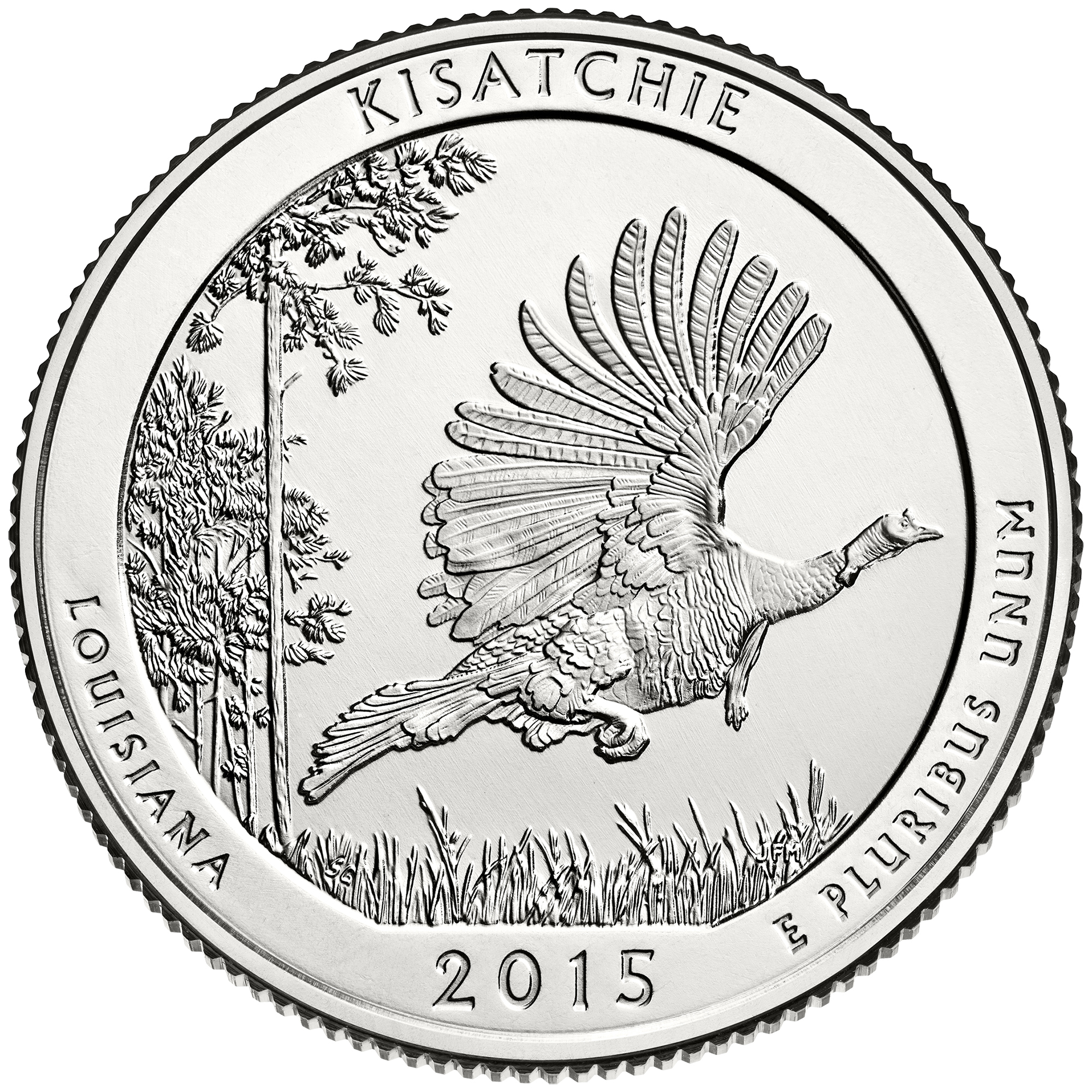 2015 America The Beautiful Quarters Coin Kisatchie Louisiana Uncirculated Reverse
