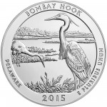 2015 America The Beautiful Quarters Five Ounce Silver Bullion Coin Bombay Hook Delaware Reverse