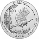 2015 America The Beautiful Quarters Five Ounce Silver Bullion Coin Kisatchie Louisiana Reverse