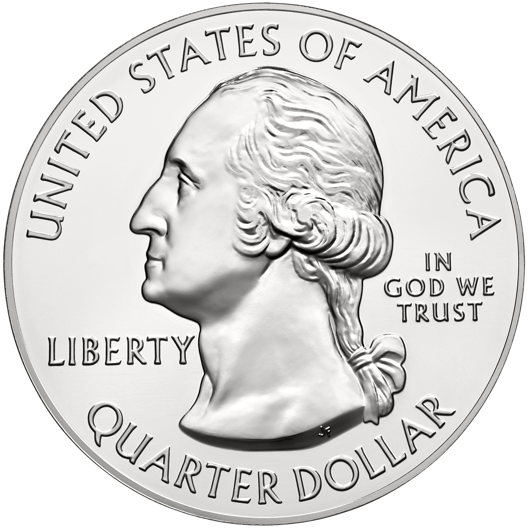 2015 America The Beautiful Quarters Five Ounce Silver Bullion Coin Obverse