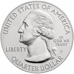 2015 America The Beautiful Quarters Five Ounce Silver Uncirculated Coin Obverse