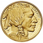 2015 American Buffalo One Ounce Gold Proof Coin Obverse