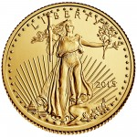 2015 American Eagle Gold Quarter Ounce Bullion Coin Obverse