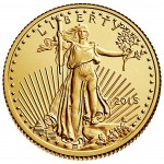 2015 American Eagle Gold Tenth Ounce Bullion Coin Obverse
