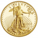 2015 American Eagle Gold Tenth Ounce Proof Coin Obverse