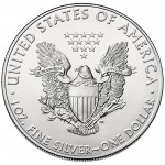 2015 American Eagle Silver One Ounce Bullion Coin Reverse