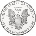 2015 American Eagle Silver One Ounce Proof Coin Reverse