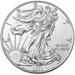 2015 American Eagle Silver One Ounce Uncirculated Coin Obverse