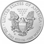 2015 American Eagle Silver One Ounce Uncirculated Coin Reverse