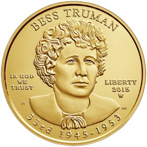 2015 First Spouse Gold Coin Bess Truman Uncirculated Obverse