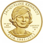 2015 First Spouse Gold Coin Jacqueline Kennedy Proof Obverse