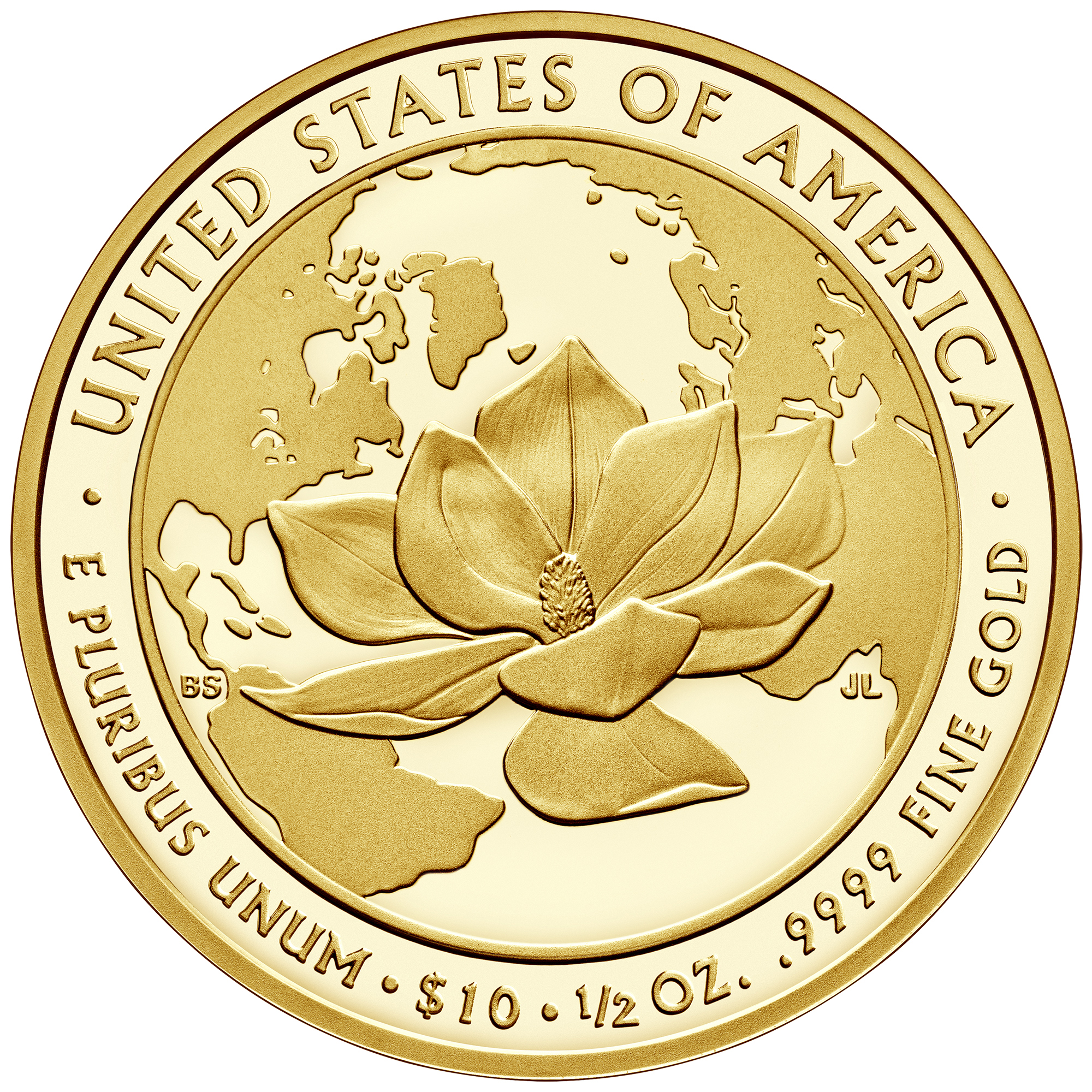 2015 First Spouse Gold Coin Jacqueline Kennedy Proof Reverse