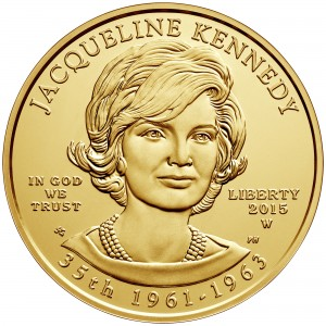2015 First Spouse Gold Coin Jacqueline Kennedy Uncirculated Obverse