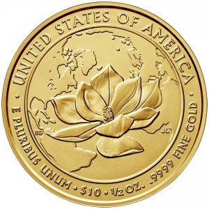 2015 First Spouse Gold Coin Jacqueline Kennedy Uncirculated Reverse