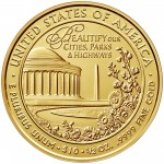 2015 First Spouse Gold Coin Lady Bird Johnson Uncirculated Reverse
