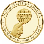 2015 First Spouse Gold Coin Mamie Eisenhower Proof Reverse
