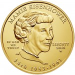 2015 First Spouse Gold Coin Mamie Eisenhower Uncirculated Obverse