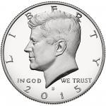 2015 Kennedy Half Dollar Proof Obverse San Francisco