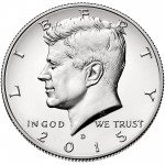 2015 Kennedy Half Dollar Uncirculated Obverse Denver