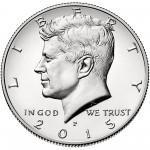 2015 Kennedy Half Dollar Uncirculated Obverse Philadelphia