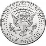 2015 Kennedy Half Dollar Uncirculated Reverse