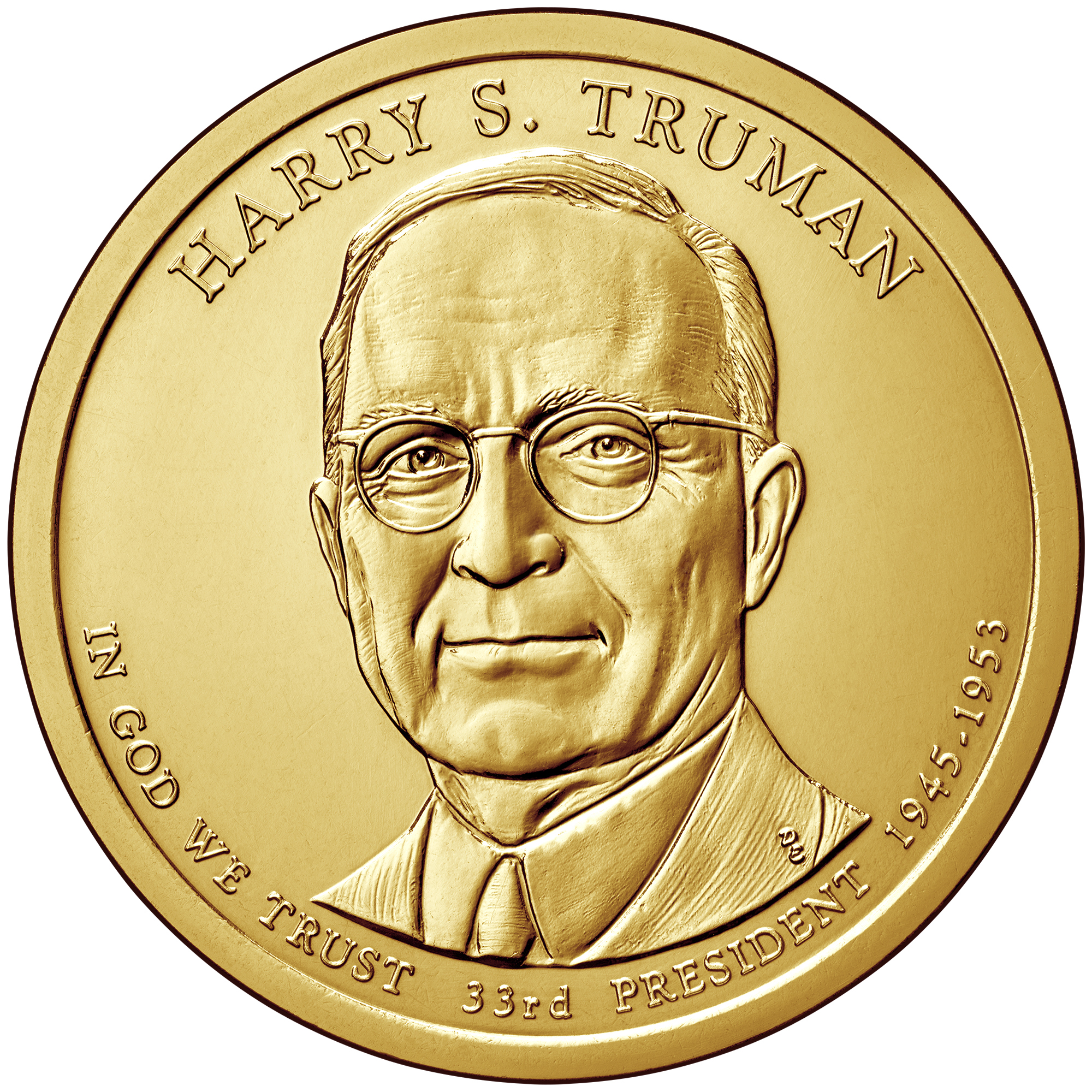 2015 Presidential Dollar Coin Harry S. Truman Uncirculated Obverse