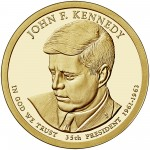 2015 Presidential Dollar Coin John F. Kennedy Proof Obverse