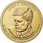 2015 Presidential Dollar Coin John F. Kennedy Uncirculated Obverse