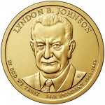 2015 Presidential Dollar Coin Lyndon B. Johnson Uncirculated Obverse