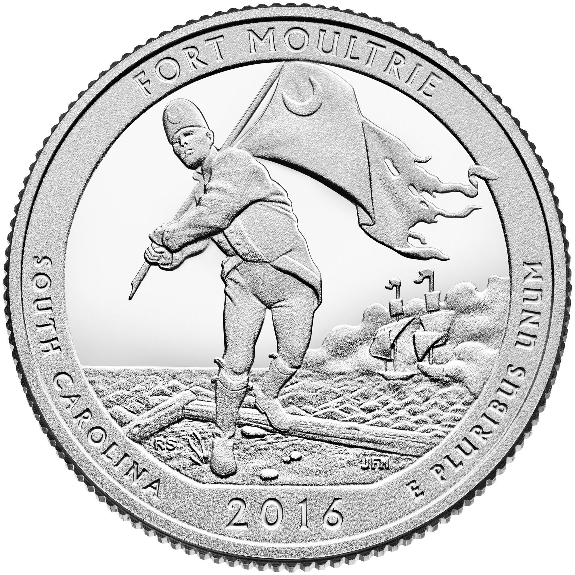 2016 America The Beautiful Quarters Coin Fort Moultrie South Carolina Proof Reverse