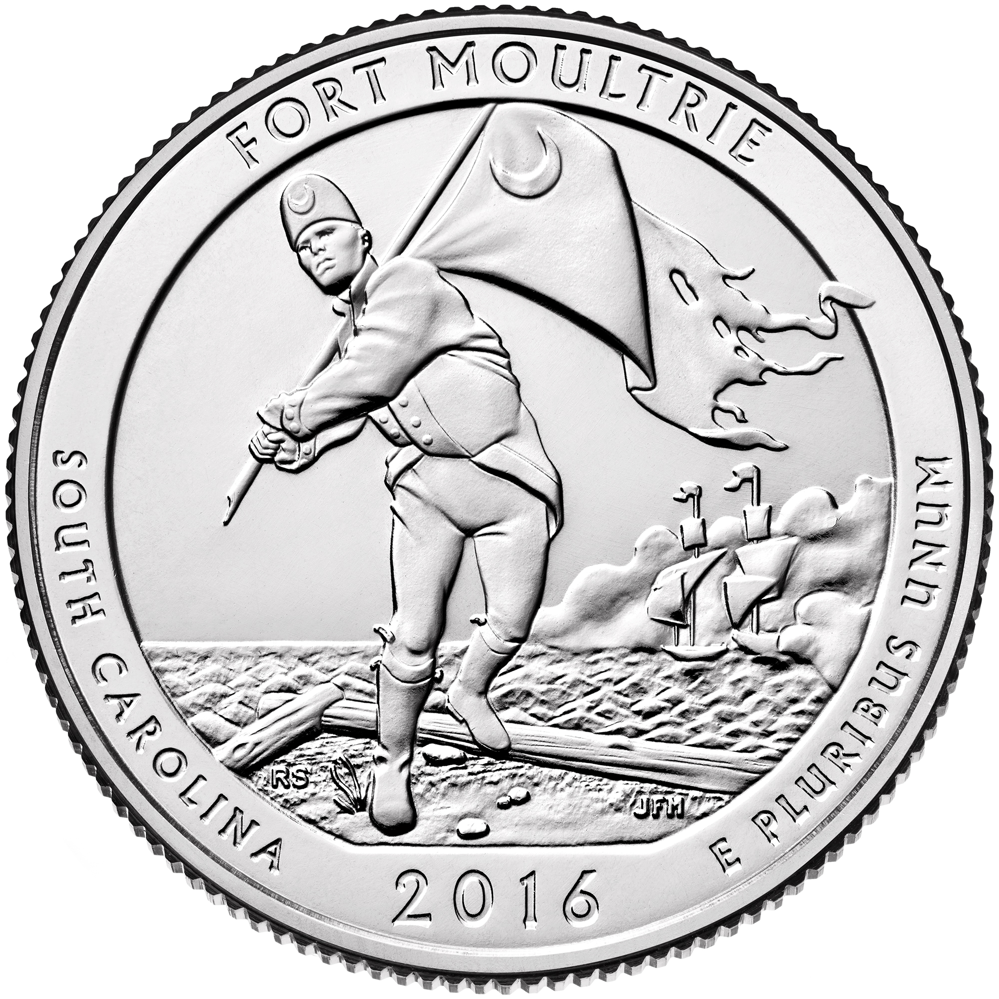 2016 America The Beautiful Quarters Coin Fort Moultrie South Carolina Uncirculated Reverse