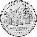 2016 America The Beautiful Quarters Coin Harpers Ferry West Virginia Uncirculated Reverse