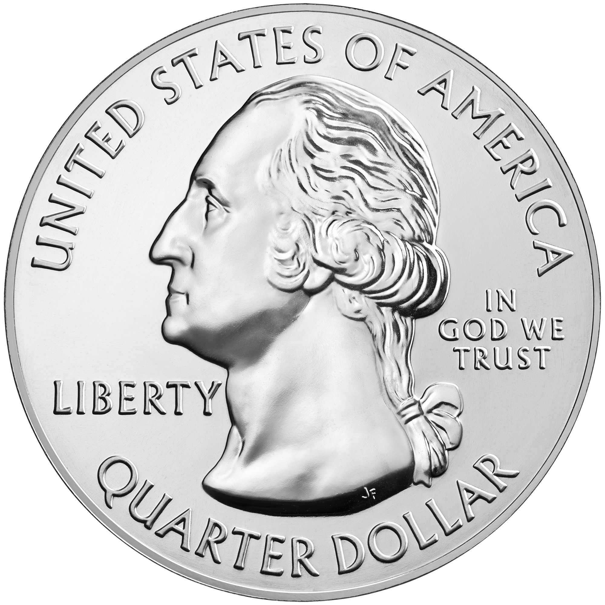 2016 America The Beautiful Quarters Five Ounce Silver Bullion Coin Harpers Ferry West Virginia Obverse