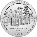2016 America The Beautiful Quarters Five Ounce Silver Bullion Coin Harpers Ferry West Virginia Reverse