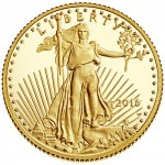 2016 American Eagle Gold Tenth Ounce Proof Coin Obverse