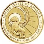 2016 First Spouse Gold Coin Betty Ford Proof Reverse