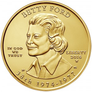2016 First Spouse Gold Coin Betty Ford Uncirculated Obverse