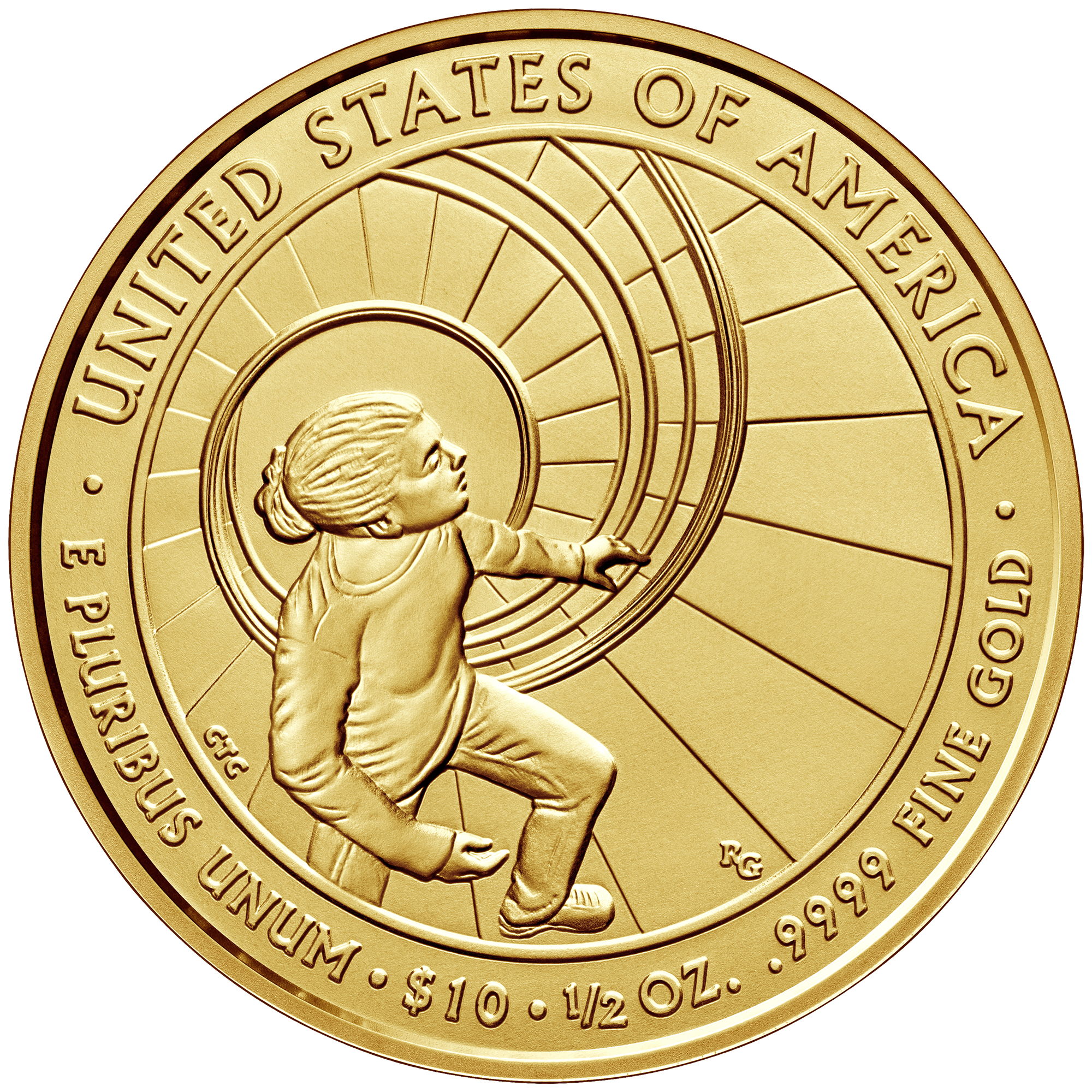 2016 First Spouse Gold Coin Betty Ford Uncirculated Reverse