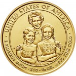 2016 First Spouse Gold Coin Nancy Reagan Uncirculated Reverse