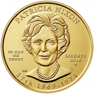 2016 First Spouse Gold Coin Patricia Nixon Uncirculated Obverse
